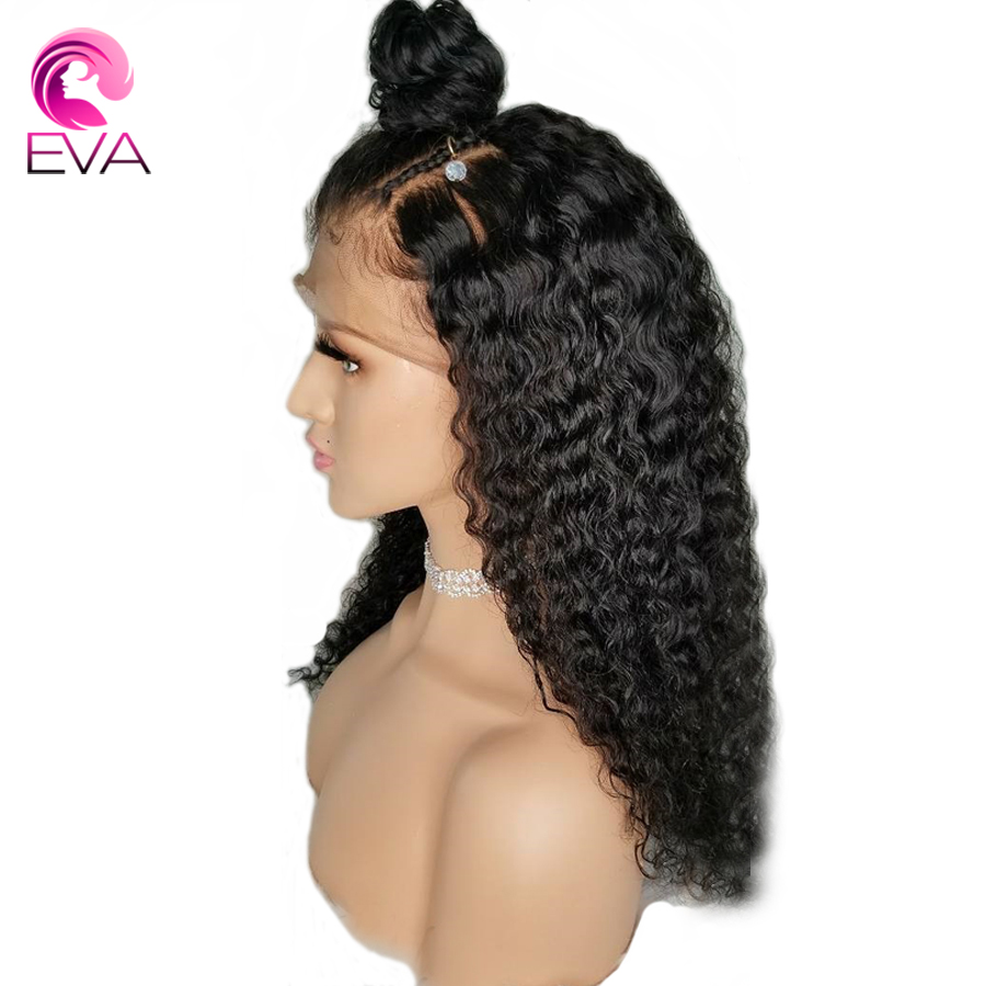 Eva Hair 150% Density Deep Wave 4.5*4.5 Silk Base Lace Front Human Hair Wigs Pre Plucked Brazilian Remy Hair Wigs With Baby Hair