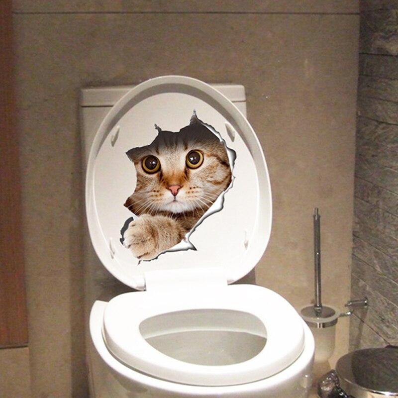 Cute Kitten Toilet Sticker