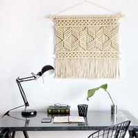 collalily 100% cotton white geometric striped plaid Tapestry Lace Indian hand woven decoration mandala religion Bohemia