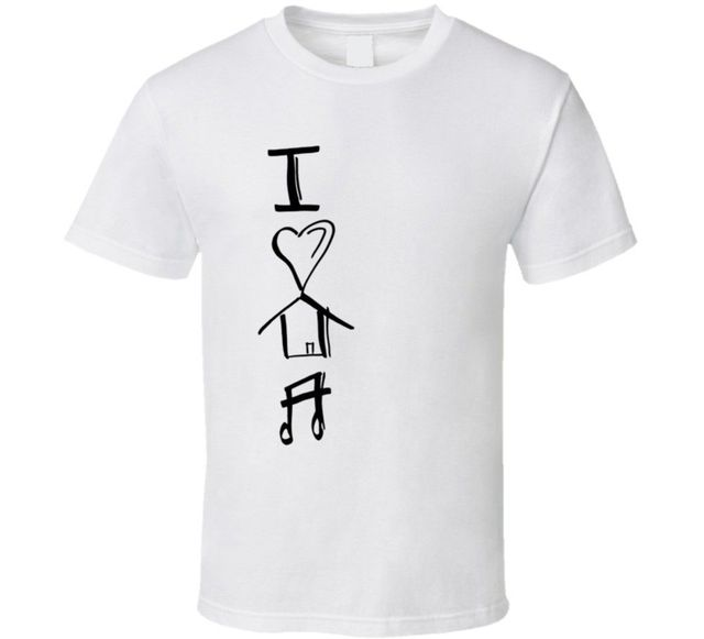 I Love House Music T Shirt In T Shirts From Mens Clothing
