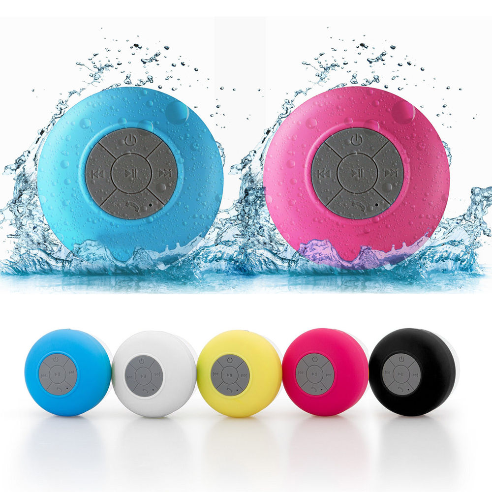 Bathroom Bluetooth speakers Sucker Wireless outdoors portable Subwoofer Waterproof Loudspeaker Support vehicle for Xiaomi iphone