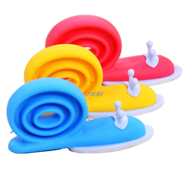 2017 Safety Cute Cartoon Snail Silicone Wedge Doorstops Stopper Children Baby 3pcs APR14 30