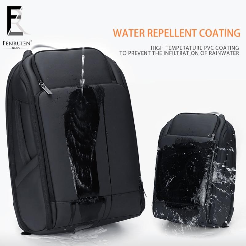ROWE ビジネス男性のバックパック黒 USB 充電抗盗難ノートパソコンのバックパック 17 インチ男性大容量ファッション旅行バックパック  グループ上の スーツケース & バッグ からの バックパック の中 3