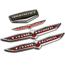 SUMMIT Grand Cherokee Shield Trail Hawk Chrome Plastic Car Styling Emblem Badge 3D Sticker Auto Exterior Decor Decal for JEEP