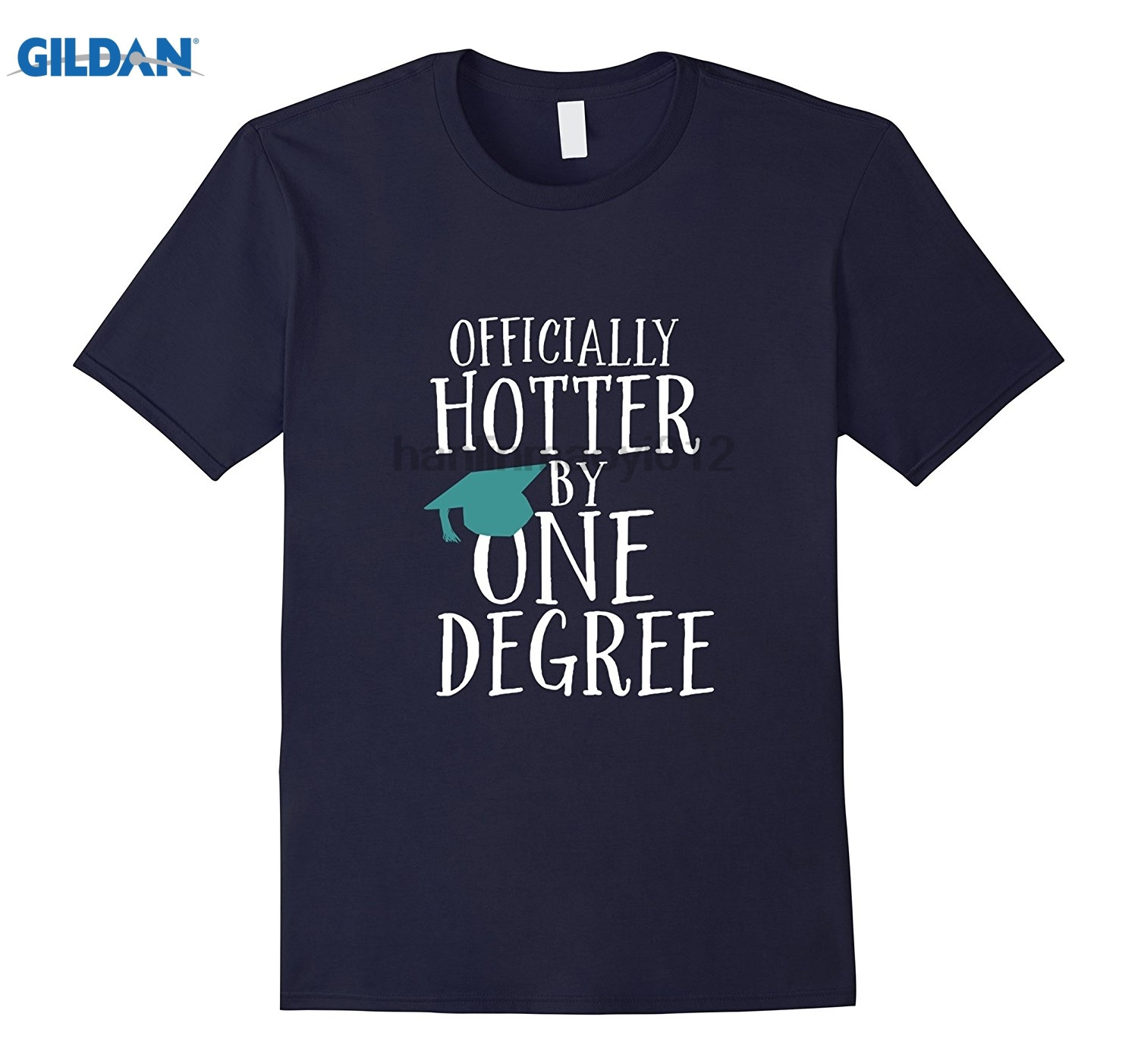 GILDAN Funny Graduation T-shirt Hotter By One Degree Graduate Gift Womens T-shirt