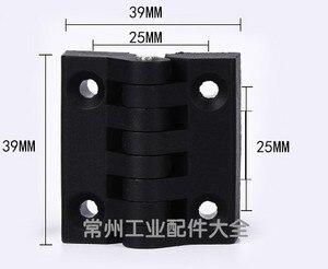 Image 4 - 10 teile/satz Schwarz Farbe Nylon Kunststoff Butt Scharnier für Holz Box Möbel Elektrische Schrank Hardware