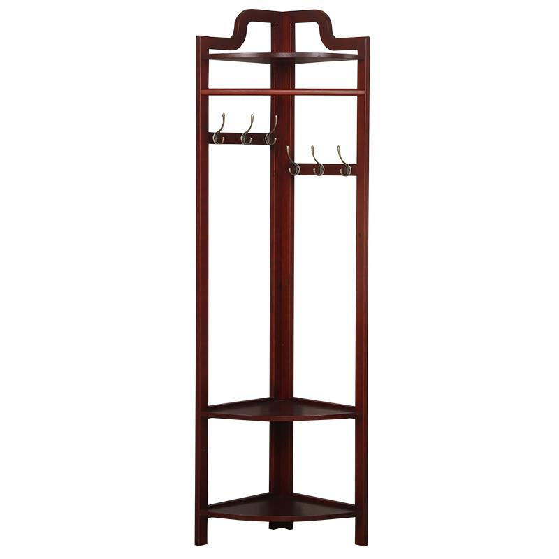 Coat floor bedroom wooden hanger racks simple corner clothes rack European creative hangers coatrack landing racks shoe rack bedroom clothes rack multi function dryer
