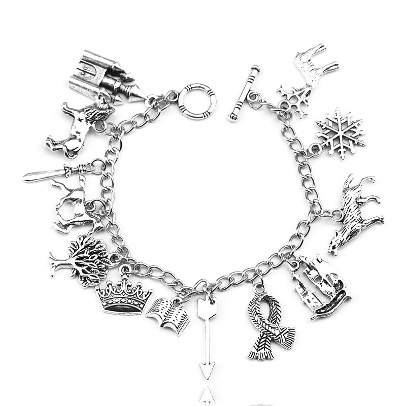 Bracelet-Accessories Throne Snowflake Narnia Jewelry Charm Inspired Women New Of Wolf