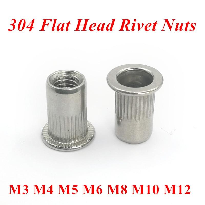 M3 4 M5 M6 M8 M10 M12 RIVNUTS BLIND THREADED NUTSERTS RIVET NUTS STAINLESS STEEL