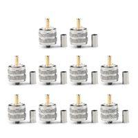 Sale 10 Pcs Connector UHF Male Pl259 Plug Crimp RG8X RG 8X LMR240 Cable Straight Wire