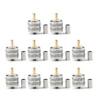 Sale 10 Pcs Connector UHF Male Pl259 Plug Crimp RG8X RG 8X LMR240 Cable Straight Wire