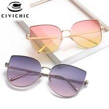 CIVICHIC 2017 New Women Gradient Color Sunglasses Retro Cat Eye Sun Eyewear Ourdoor HD Oculos De Sol Hipster UV400 Lunettes E327
