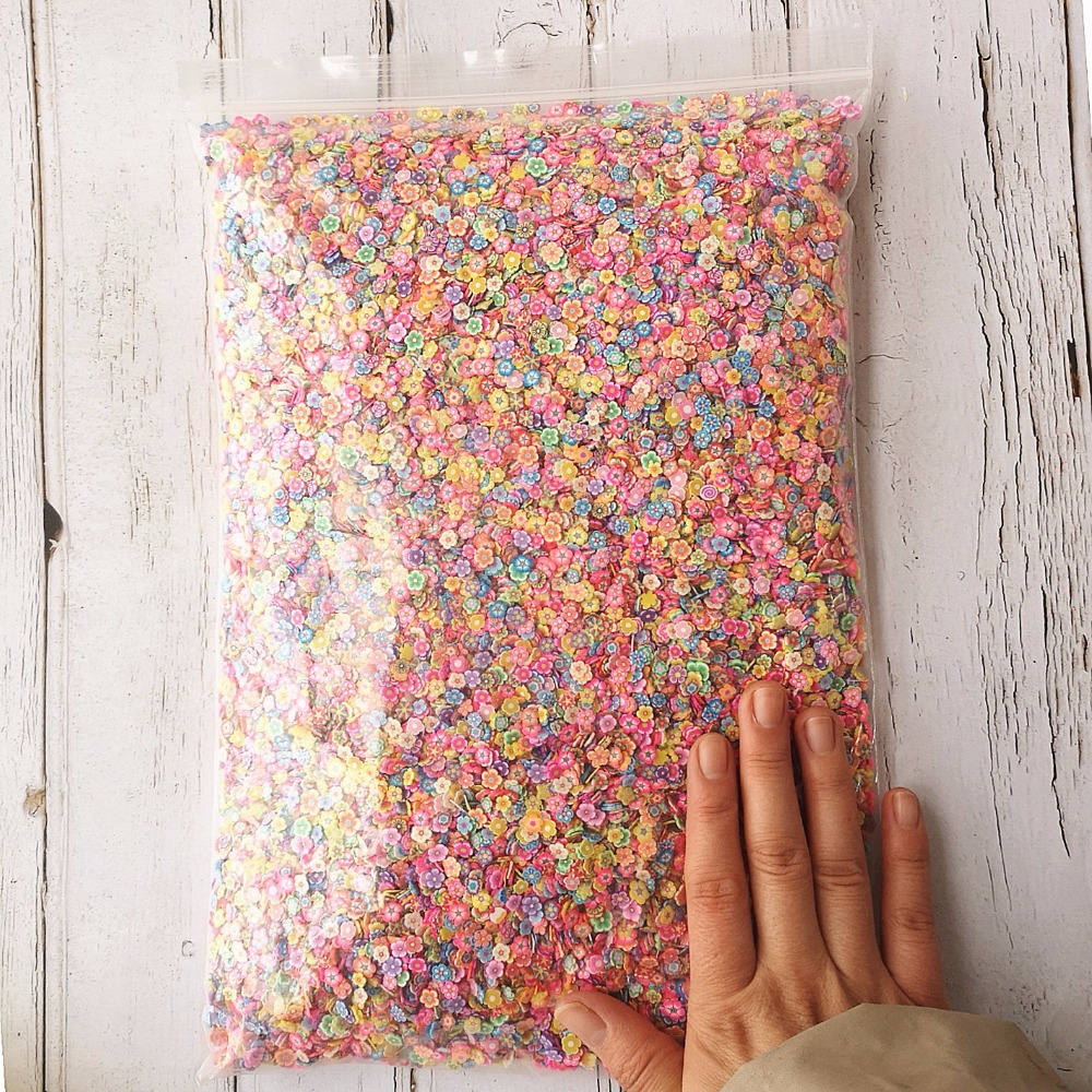 1KG 100000PCS Slime DIY Accessories Toys Mini Strawberry Fruit Slices Fluffy Clear Slime Supplies Gift Toy-in Artificial Fruits from Home & Garden    1