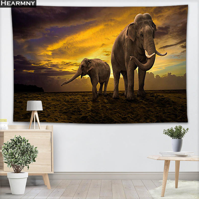 Animals Elephant Wall Hanging Tapestry Sheets Home Decorative Tapestries Beach Towel Yoga Mat Blanket Table Cloth Wall Tapestry