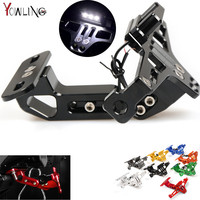 6 Color Motorcycle Adjustable Angle Aluminum License Number Plate Frame Holder Bracket For Honda Yamaha Kawasaki