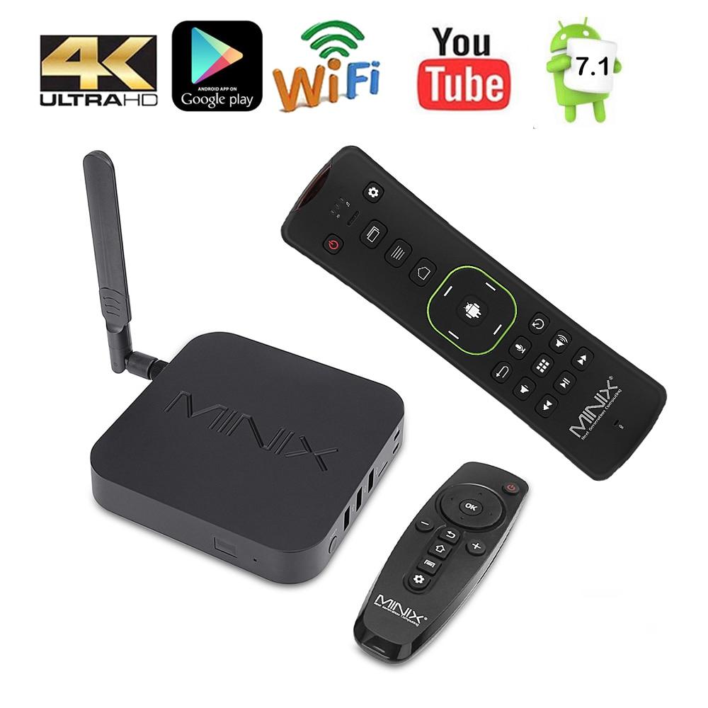 Minix neo U9-H + neo a3 caixa de tv inteligente com entrada de voz rato de ar de 64 bits octa-core media hub android 7.1 2 gb 4 k hdr caixa de tv inteligente