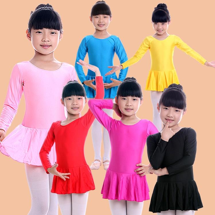 Long Sleeved Rhythmic Gymnastic Leotard Skate Ballerina Clothes Discount Roupa De Bailarina Girls Ballerina Dress Dance Costumes