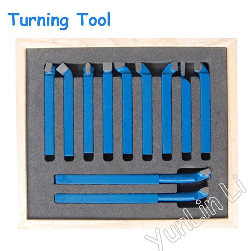 11pcs Carbide Lathe Tool Carbide Tip Tipped Cutter Tool Bit Cutter Set Metal Lathe Tool Welding Turning Tool Holder