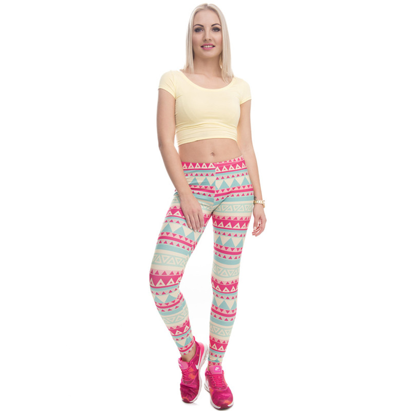 Zohra Brand New Fashion Aztec Printing legins Punk Women's Legging Stretchy Trousers Casual Slim fit Pants Leggings 13