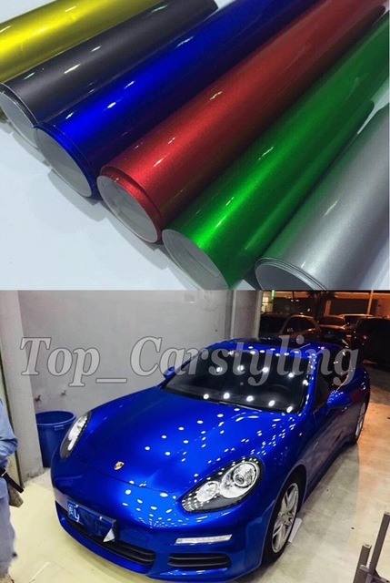 Aliexpress Com Buy Various Colors Gloss Metallic Vinyl For Car