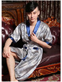 Long Satin robe male sleep & lounge faux silk bathrobe for man  men nightgown mens dressing gowns chinese robe sleelwear pajamas