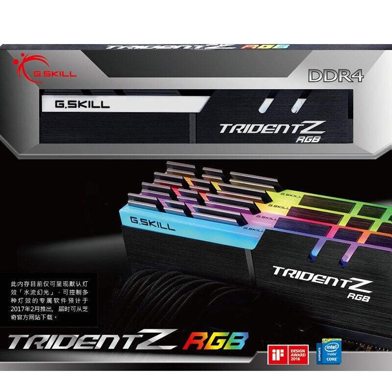 (G. SKILL) Magique Halo Série DDR4 3200 Fréquence De Bureau mémoire RGB lumière bar (F4-3200C14D-16GTZR)