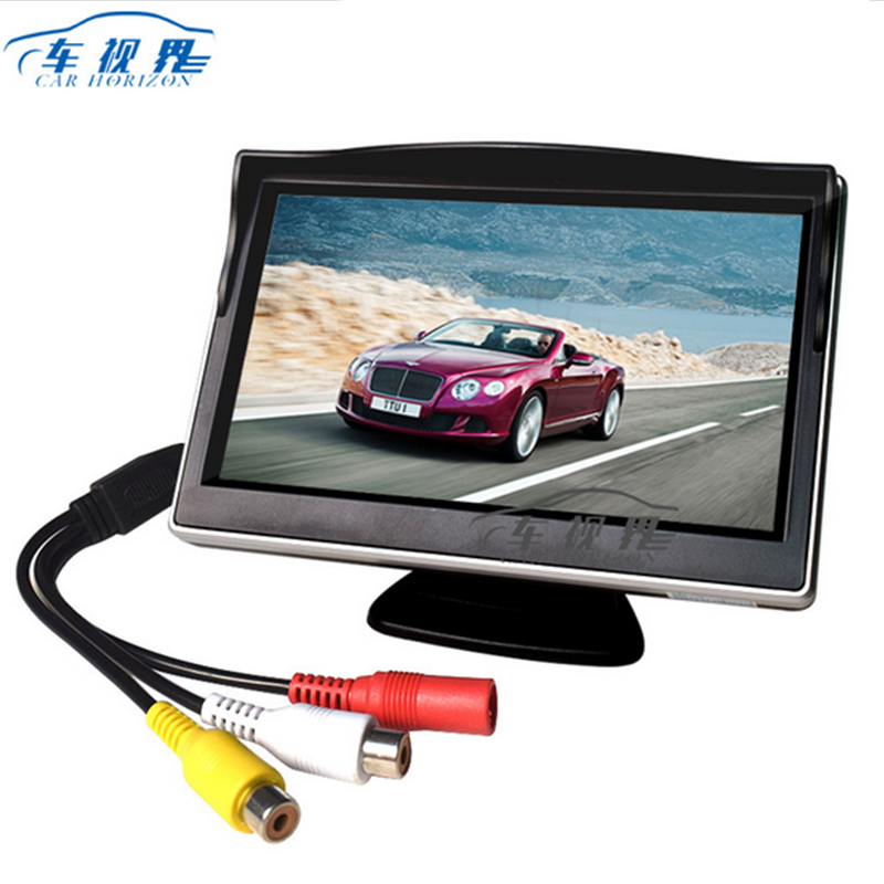 5 Car Monitor In-Dash 2 Way Video With rotatable Bracket Input HD Digital Colorful For Rear View AV Inpt car electronics A2