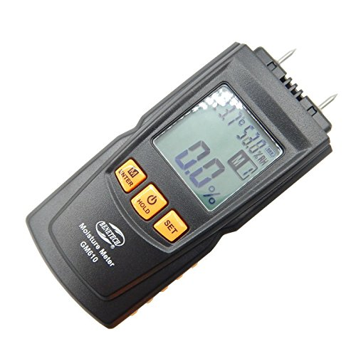 BENETECH GM610 Wood Moisture Meter with LCD Backlight Temperature Humidity Tester Portable Wood Moisture tester
