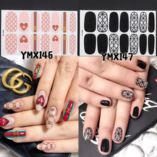 14tips/sheet 3D Nail Art Stickers Manicure Water Decals Nail Art Decorations Stickers Adhesive Water Transfer Stickers Decals стоимость