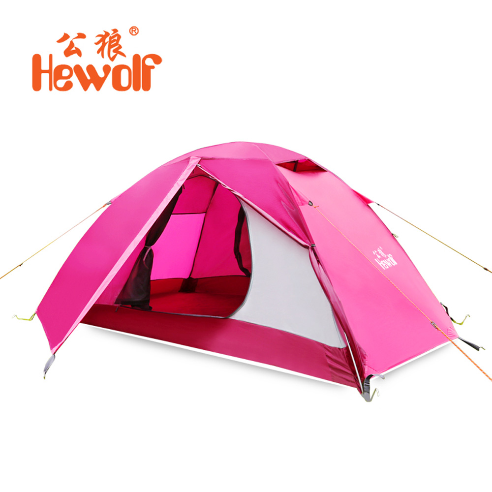 Double Aluminum Pole Tent Camping Windproof Waterproof Double Layer Tent Ultralight Outdoor Hiking Camping Tent Picnic tents