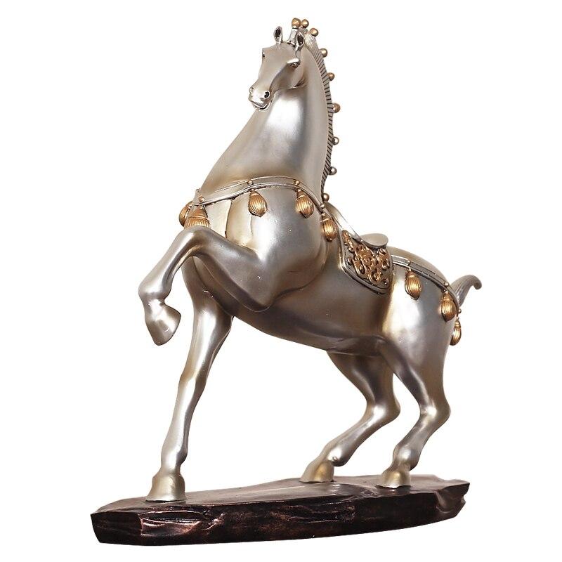 Cheval créatif à la réussite ornements résine artisanat cheval Statues maison décoration accessoires bureau Feng Shui affichage cadeaux chanceux