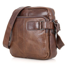 цена на Men's Shoulder Bag Genuine Leather 2019 Man Vintage Fashion Brand Mini Messenger Crossbody Bags Cow Leather  Male Business Bags