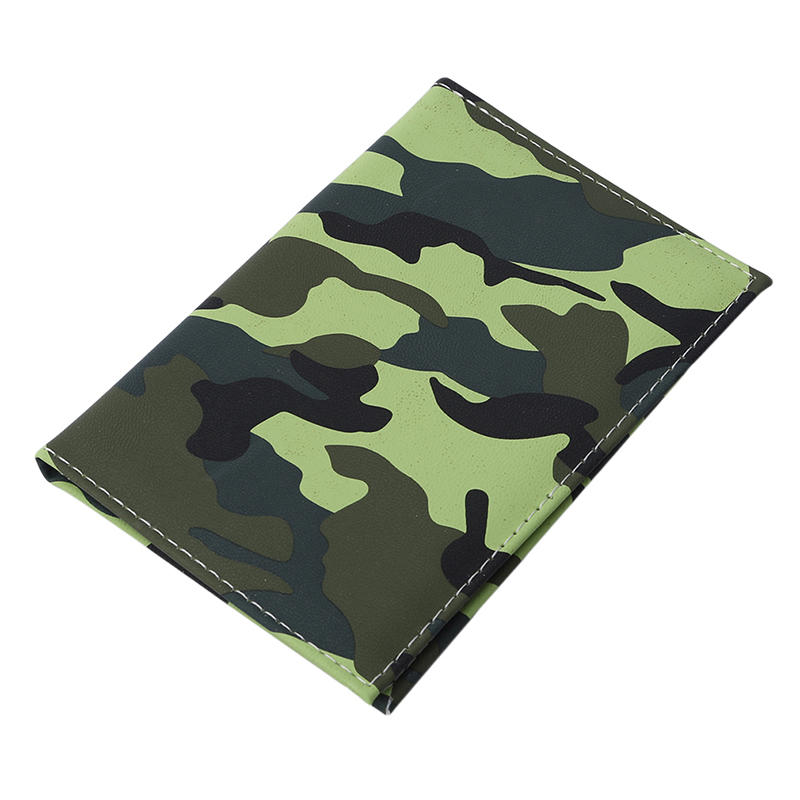 1pc Fashion Camouflage Print Cover Ladies PU Leather Cover Women Card Holder For Passport Girls Passport Holder New