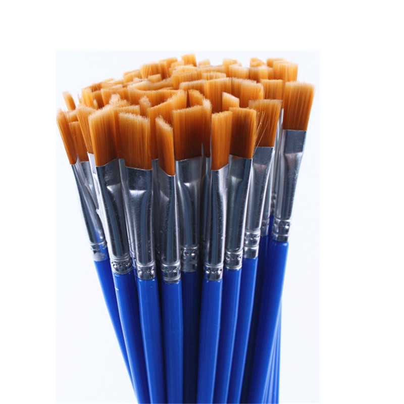 20 Pcs Same Size Small Fine Nylon Hair Paint Brushes Set For Watercolor Acrylic Oil Painting Brushes Drawing Art Supplies