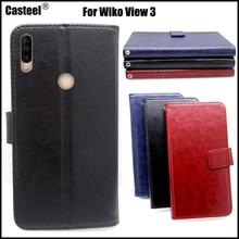 Casteel Classic Flight Series high quality PU skin leather case For Wiko View 3 Case Cover Shield