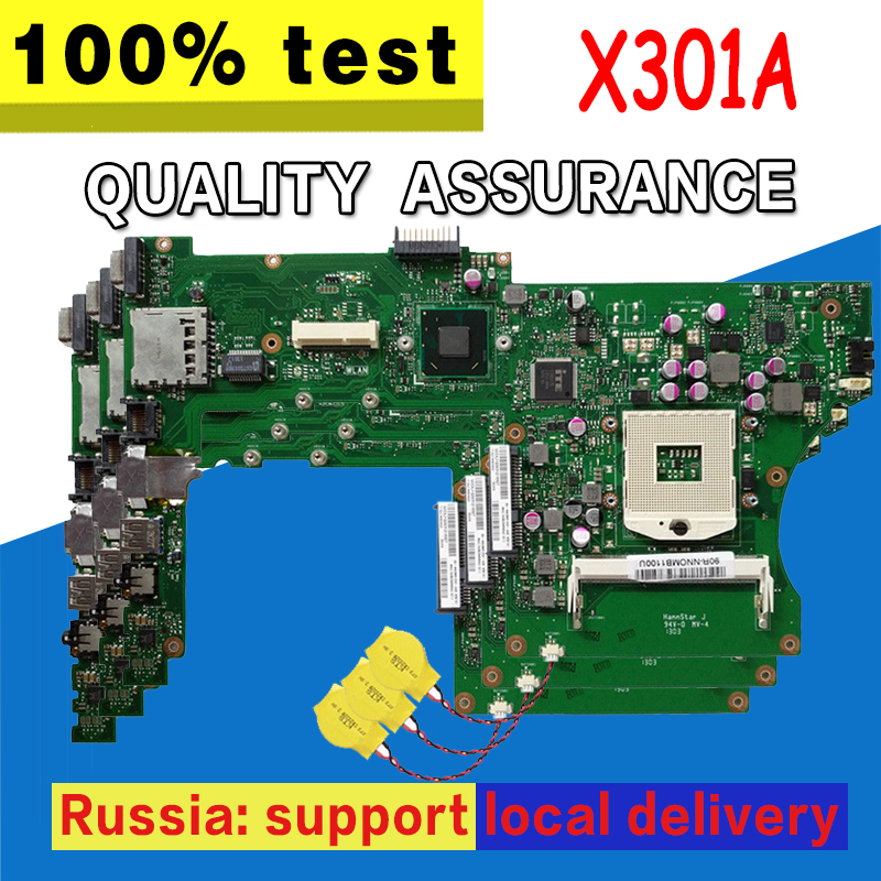X301A Motherboard 15.6 HD CPU B820 B960 For ASUS X301A X401A X501A Laptop motherboard X301A Mainboard X301A Motherboard test OK for asus motherboard x501a x301a x401a rev2 0 maibboard with i3 processor hm76 tested ok