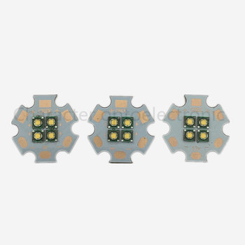 1/2/5/10pcs/lot Cree XPE 4Chip 3V/6V/12V LED Warm white 3000-3500k Emitter instead of MCE XML LED with 20MM Cooper PCB