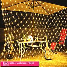 1,5*1,5 м 96 светодиодный гирлянда, рождественское освещение, рыболовная сеть, открытый водонепроницаемый и декоративный Свадебный 220 В, штепсельная вилка европейского стандарта