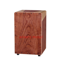 Afanti Music Rosewood / Natural Cajon Drum (KHG-224)