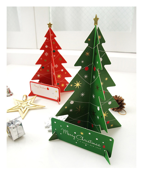 1pc 3d handmade christmas tree can write blessings writting diy 1pc 3d handmade christmas tree can write blessings writting diy christmas greeting card xmas gift home m4hsunfo Image collections