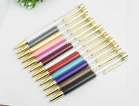 Creatively 1.0mm Empty Tube Floaty Pen metal copper high-grade gold Ballpoint Pen With no Gold Foil Oil Ball Pens