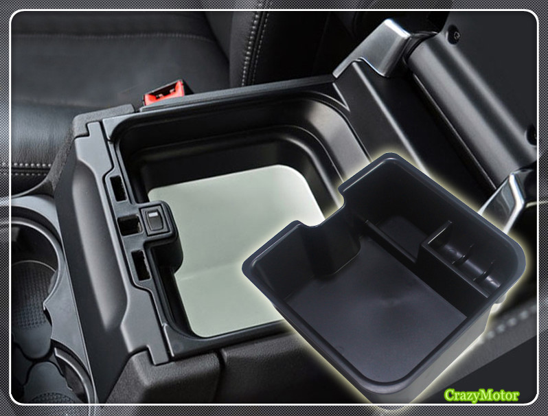 DIYUCAR Car Center Armrest Storage Box Car Organizer Container Phone Tray For Rangerover Evoque 2019 2020