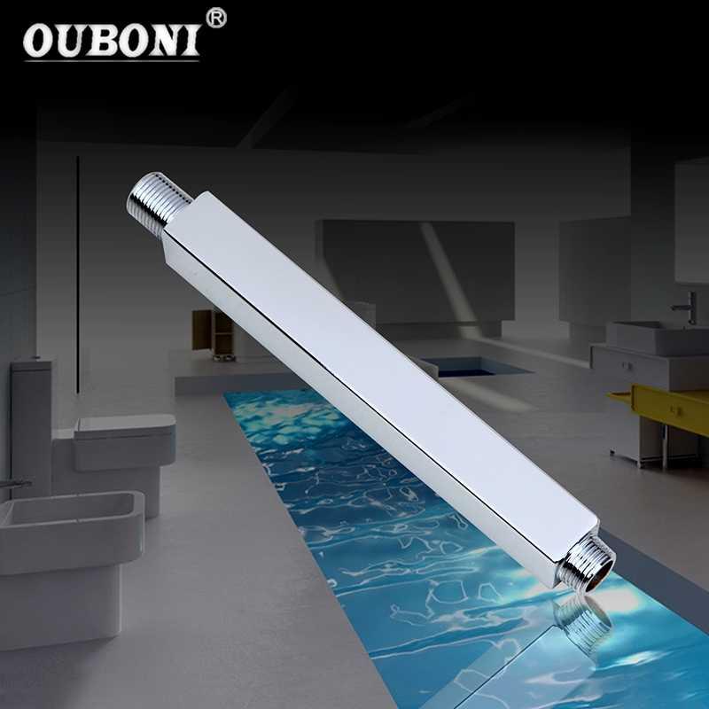 天井マウント 300 ミリメートルステンレス鋼シャワーアームシャワーヘッドホルダーで壁シャワーアームバスルームアクセサリー