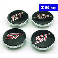 4pcs 60mm Car Styling Accessories Emblem Wheel Hub Caps Center Cover ST For Ford Focus 2