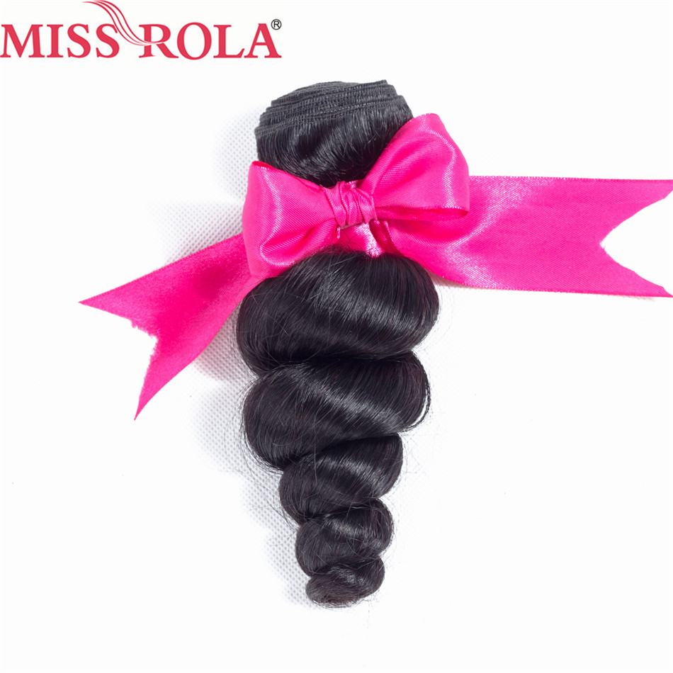Miss Rola Hair Malaysia Loose Wave Hair Natural Black 8-26 Inches 1 Bundle 100% Human Hair Sew In Hair Extensions Non-Remy