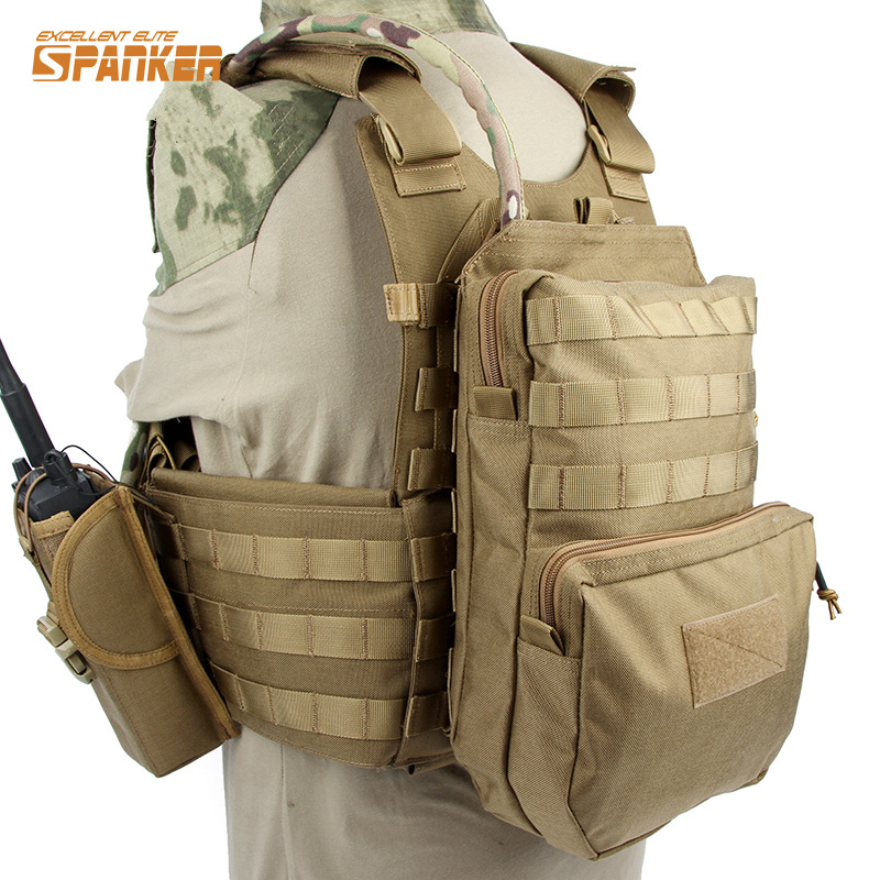 ФОТО SPANKER Molle Hydration Pack Water Pack Water Bladder Bag Backpack Water Pouch Tactical Vest Accessory Bags Hunting Bag