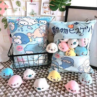 8 pcs small plush sea lion toy in a bag pillow pudding stuffed soft sea animal doll whale toy for children girl birthday gift