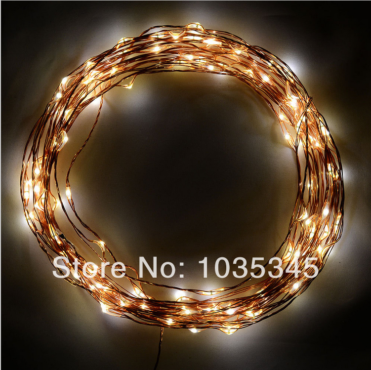 Starry String Lights 20Ft/6M 120 Warm White LED Lights on Copper Wire Includes Power Adapter ...