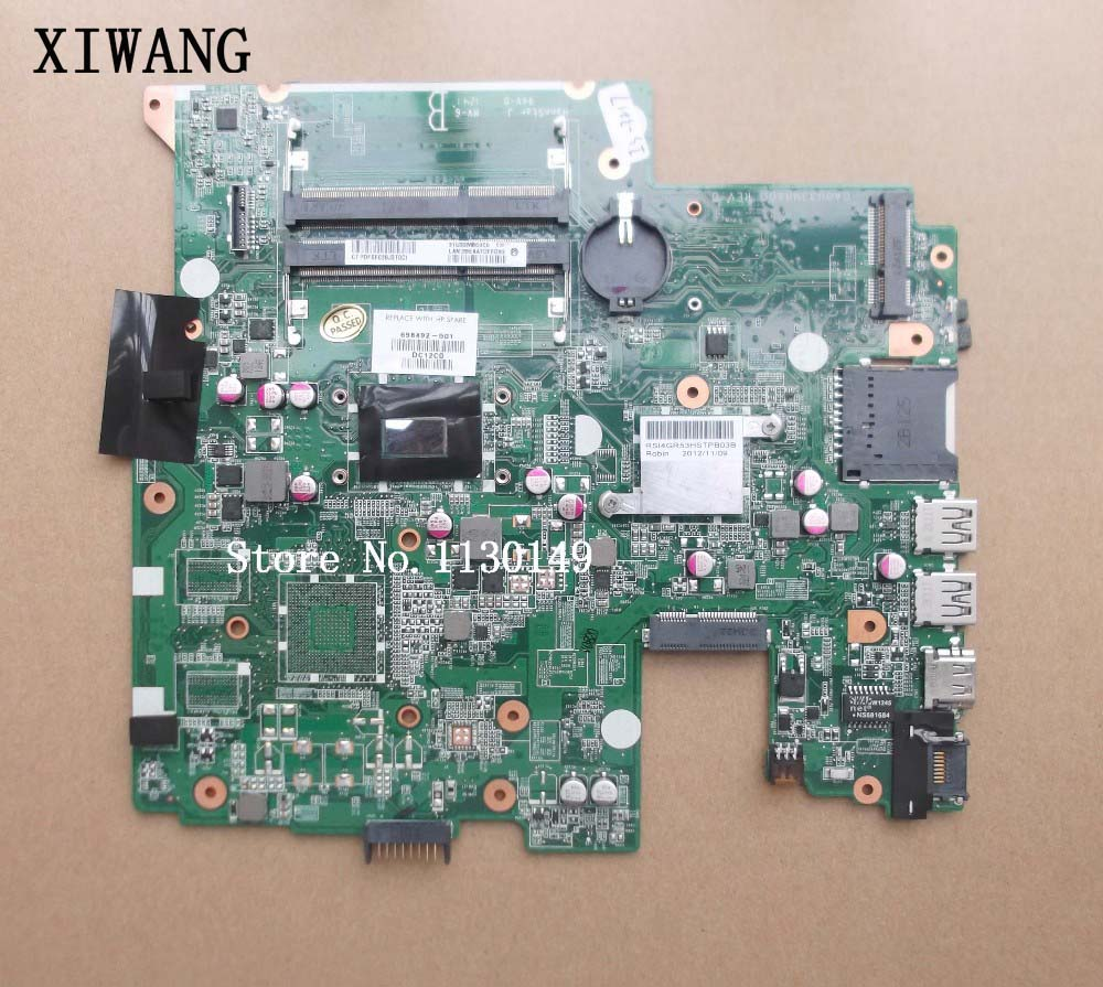 698492-001 698492-501 Free shipping For HP Pavilion Sleekbook14-B laptop DA0U33MB6D0 HM77 I3-3217U DDR3 motherboard Fully tested free shipping 1pcs i3 3217u sron9 sron9 i3 3217u 100% new goods in stock