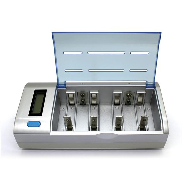 Pantalla lcd inteligente cargador del coche de batería para aa aaa ni-mh ni-cd sc c d 9 v batería recargable